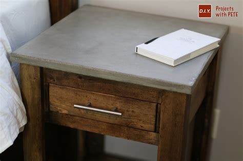 diy nightstand plans concrete nightstand