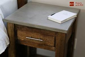 DIY Nightstand Plans Concrete Nightstand