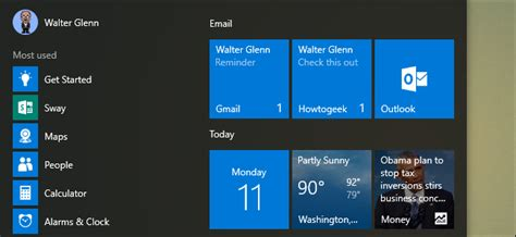 How To Make Live Tiles On Your Start Menu For Each Account