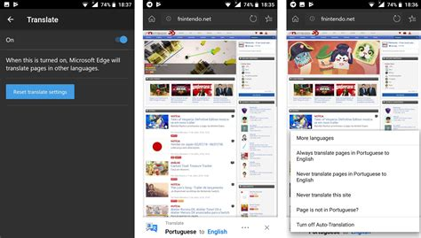 edge for android beta can now translate web pages neowin