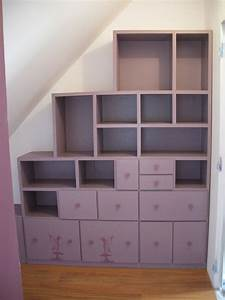 Meuble Pour Sous Pente : dressing sous pente meubles en carton angers ~ Melissatoandfro.com Idées de Décoration