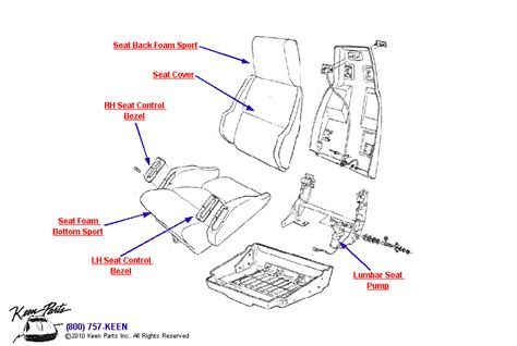 1994 Mustang Power Seat Diagram by 1994 Corvette Sport Seat Parts Parts Accessories For