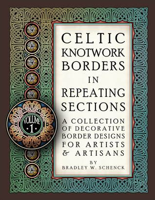 celtic knotwork borders  repeating sections  collection  decorative border designs