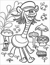 Trolls Coloring Tour Cooper Printable Coloringonly Games sketch template