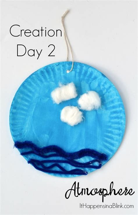 creation day 2 atmosphere or sky craft use inexpensive craft supplies to create a activity