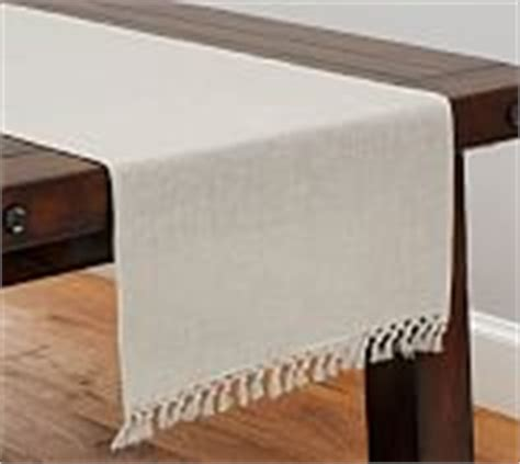 sashi fringed table throw fringe knotted table throw pottery barn