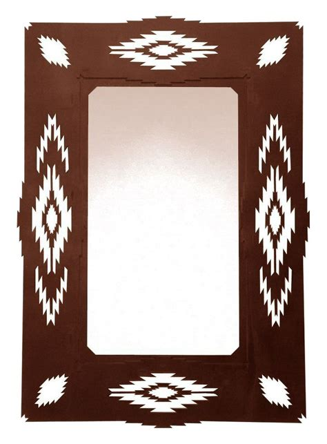 36 quot southwest desert metal wall mirror rustic wall decor