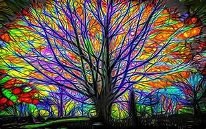 Download, Wallpaper, 1680x1050, Abstract, Tree, Colorful, Lines
