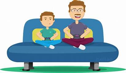 Father Clipart Fathers Happy Son Playing Graphics