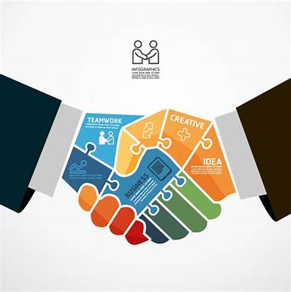 Teamwork Vector Business Graphic Creative Svg Commercial
