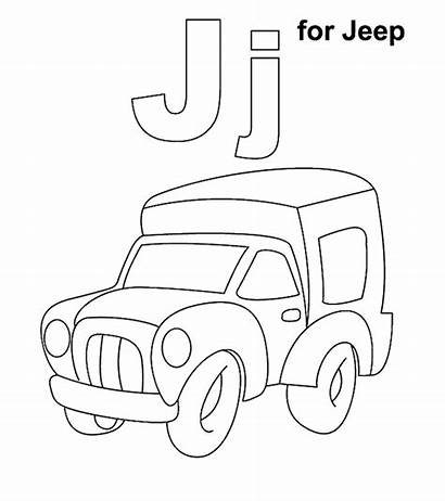 Letter Coloring Pages Sheets Jeep Printable Momjunction