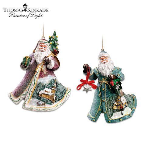 the bradford exchange thomas kinkade santa on his way