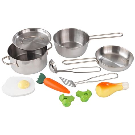 ustensile de cuisine kidkraft metal accessories set 63186 play kitchen