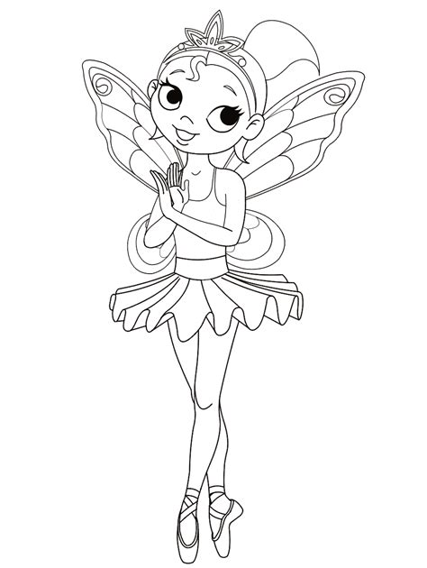 coloring page ballerina girl
