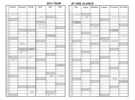 seeking good calendar difficulty year glance wallcalendar