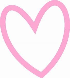 Slant Pink Heart Outline clip art - vector clip art online ...