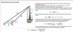 Google Entfernung Berechnen : dreieck zeichnen um turmh he zu berechnen mathelounge ~ Themetempest.com Abrechnung