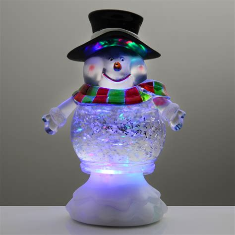 snowman 18cm glitter water ornament colour