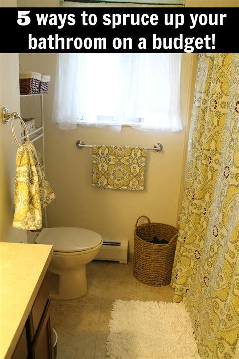 Spruce Up Bathroom On A Budget 5 ways to spruce up your bathroom on a budget bargainbriana
