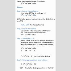 Factoring Polynomials Using The Gcf