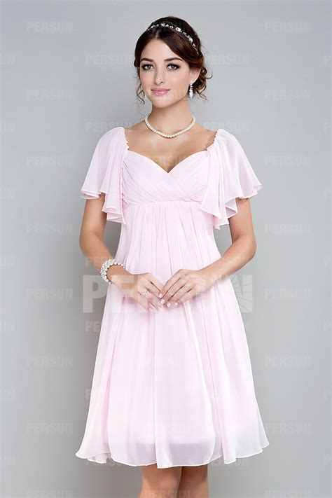 robe pour mariage chetre robe courte pour mariage empire 224 mancheron volants