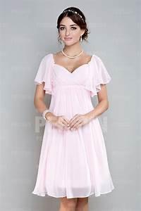 robe rose courte pour mariage empire a mancheron volants With robes courtes pour mariage