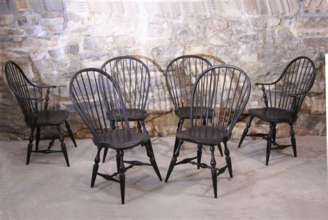 boling chair company pattern 150 9163 vintage set of six early american country