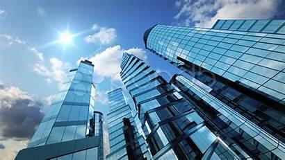 Business Background Skyscrapers Wallpapersafari Clouds Running