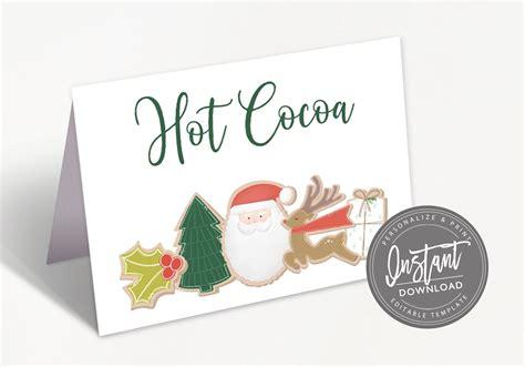 Christmas Cookie Exchange Food Sign Editable Christmas
