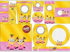 Minion Girls Free Printable Candy Bar Labels Oh My