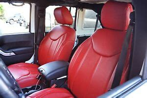 jeep wrangler jk dr red seat covers syn leather