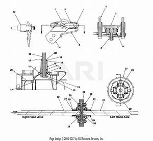 Mtd 14aj845h062  2000  Parts Diagram For Axle  Rear