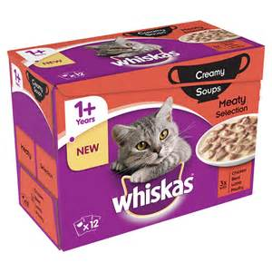 whiskas cat food whiskas 1 soup cat food pouch 12 x 85g at wilko