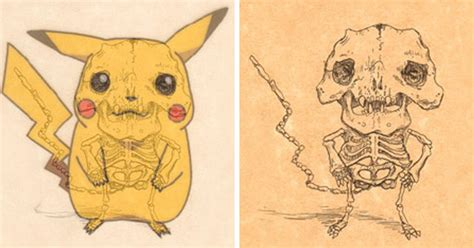 Artist Reveals The Skeletons Of Famous Cartoon Characters