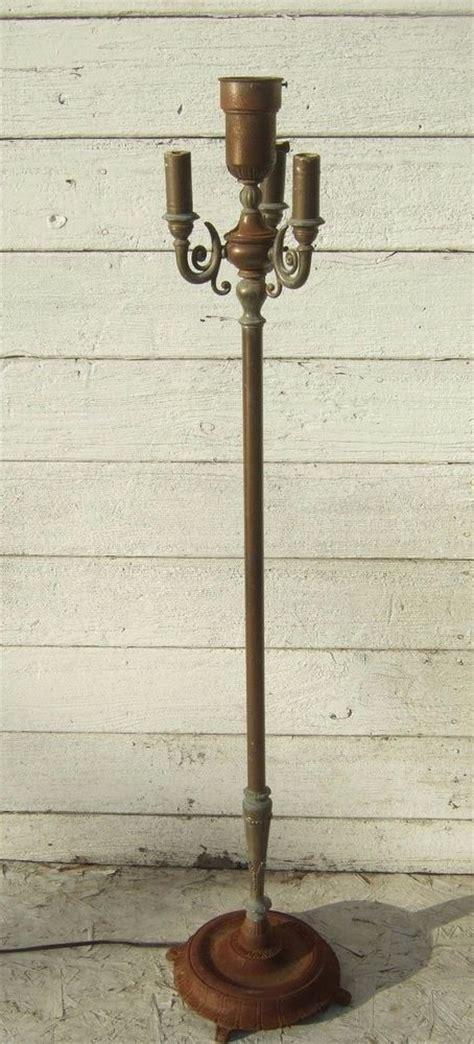 cast iron floor l antique cast iron copper spelter torchiere floor l art