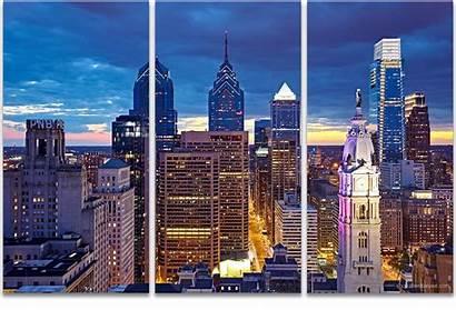 Skyline Philadelphia Definition Landscape Liberty Panel Artwork