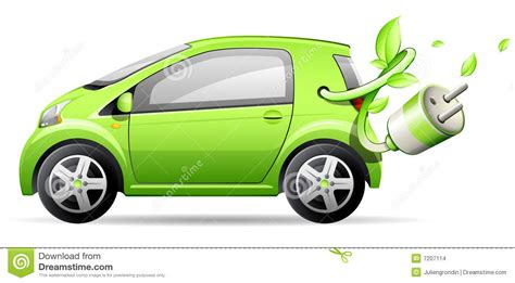 Green Car Electric by Green Electric Car Stock Vector Illustration Of Cable
