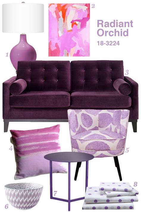 Radiant Orchid Home Inspiration  Sarah Hearts