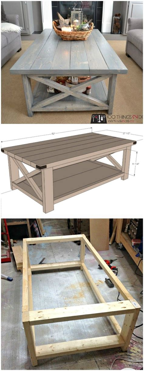 Der Couchtisch Aus Holzunique Coffee Table Design Rustic Furniture With Look 5 by Diy Farmhouse Coffee Table Ideas From Cubes To