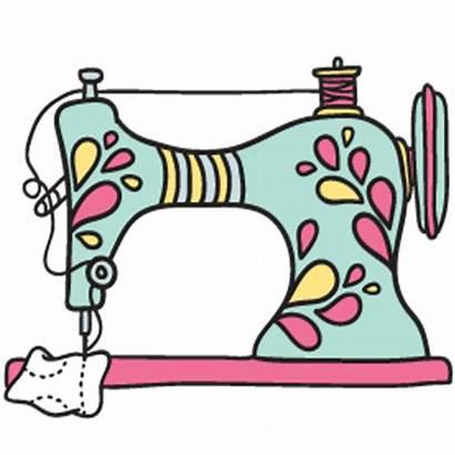 Sewing Machine Clip Clipart Silhouette Transparent Cartoon