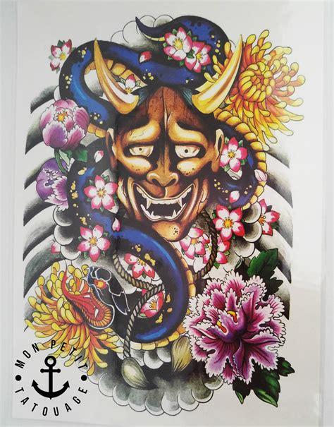 tatouage dragon japonais diable temporaire edition