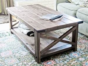 Rustic X Coffee Table - Home Design
