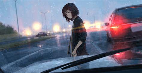 rainy car wallpaper engine anime
