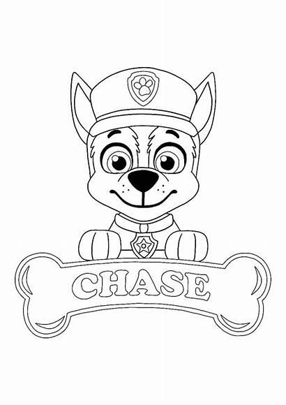 Coloring Paw Patrol Chase Sheet Printable Sheets