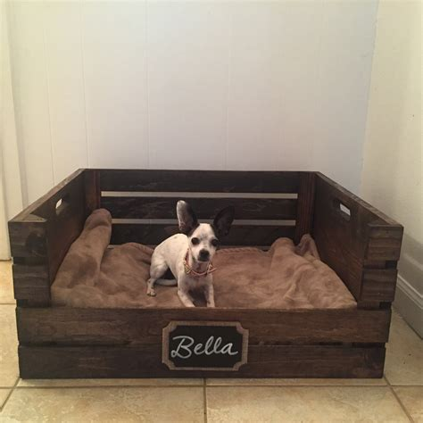 Wooden Crate Dog Bed Diy Kennels Indoor Pet Wood Box ...