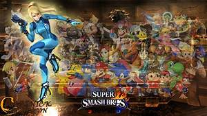 SSB4 Wallpaper Zero Suit Samus by Mazznick on DeviantArt