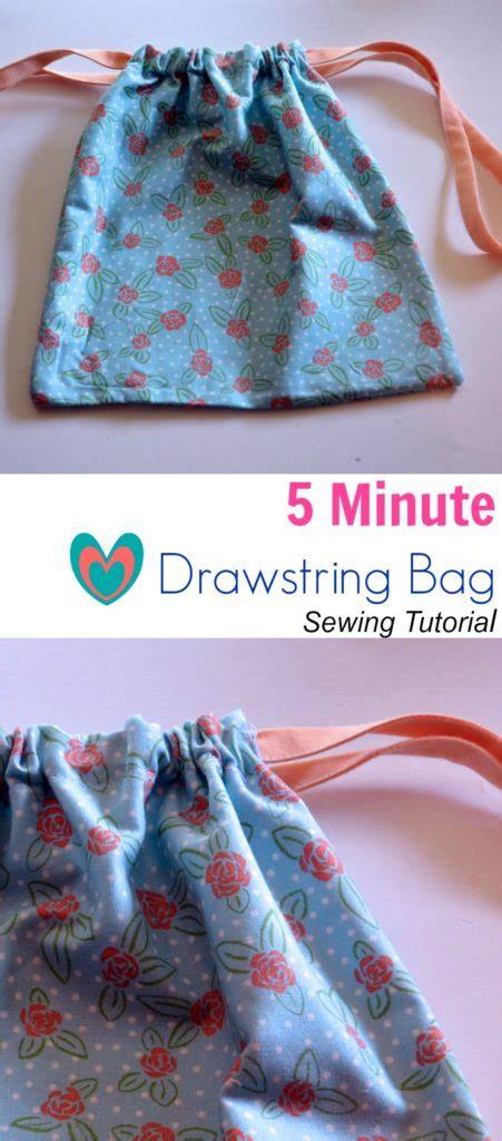 minute drawstring bag sewing tutorial   cutting floor printable  sewing patterns