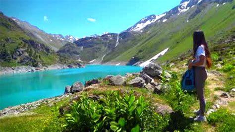 walk     swiss alps beautiful summer day hiking  switzerland dji mavic air youtube