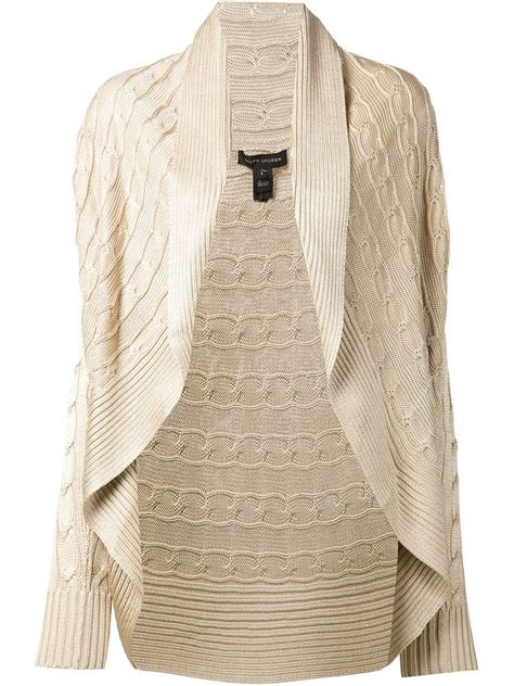 cable knit open front cardigan ralph black label cable knit open front cardigan in
