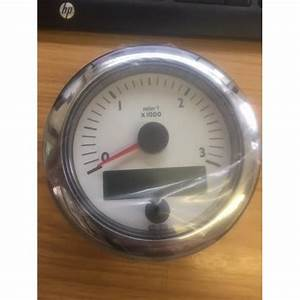 Vdo White Tachometer 3000rpm With Hour Meter